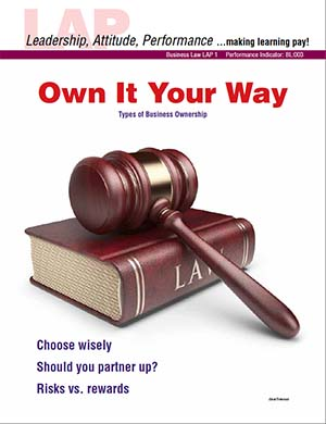 LAP-BL-001, Own It Your Way (Types of Business Ownership) (Download) Law, Entrepreneurship, LAP-BA-007