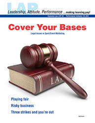 LAP-BL-058, Cover Your Bases (Legal Issues in Sport/Event Marketing) (Download) LAP-BL-003, Sports Marketing, Business Law, Business Administration