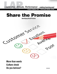 LAP-CR-006, Share the Promise (Identifying Brand Promise) (Download) Product Management, Product Planning, Branding, Customer Relations