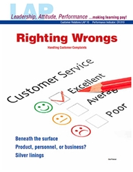 LAP-CR-010, Righting Wrongs (Handling Customer Complaints) (Download) Customer Service