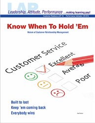 LAP-CR-016, Know When to Hold Em (Nature of Customer Relationship Management) (Download) CR:016, LAP-CR-002