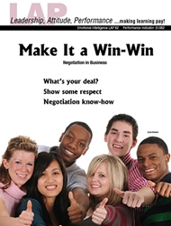 LAP-EI-062, Make It a Win-Win (Negotiation in Business) (Download) EI:062, Emotional Intelligence, Leadership, Communications, LAP-EI-008