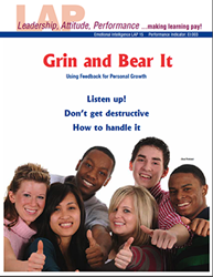 LAP-EI-015, Grin and Bear It (Using Feedback for Personal Growth) (Download) Emotional Intelligence, Personal Development, Professional Development, Workplace, Co-op