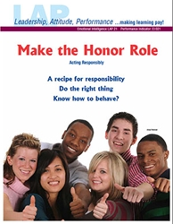 LAP-EI-021, Make the Honor Role (Acting Responsibly) (Download) Emotional Intelligence, Character Development, Co-op, Workplace, LAP-PD-007