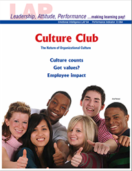 LAP-EI-064, Culture Club (The Nature of Organizational Culture) (Download) Emotional Intelligence, Ethics
