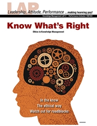 LAP-KM-002, Know What's Right (Ethics in Knowledge Management) (Download)