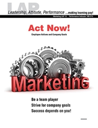 LAP-MK-015, Act Now! (Employee Actions and Company Goals) (Download) MK:015, LAP-MK-002, Marketing, Work-based Learning, Co-op Work Experience, Community-based Learning