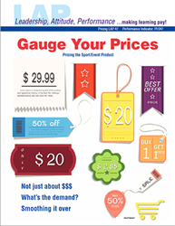 LAP-PI-047, Gauge Your Prices (Pricing the Sport/Event Product) (Download) LAP-PI-007, Pricing, Sports Marketing