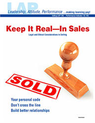 LAP-SE-106, Keep It Real--In Sales (Legal and Ethical Considerations in Selling) (Download) SE:106, LAP-SE-129, Ethics