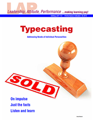 LAP-SE-112, Typecasting (Addressing Needs of Individual Personalities) (Download) Selling