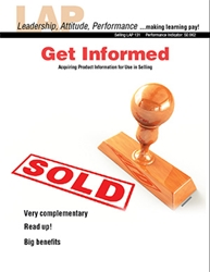 LAP-SE-131, Get Informed (Acquiring Product Information for Use in Selling) (Download)