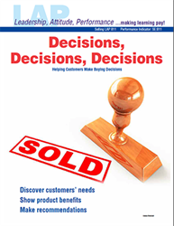 LAP-SE-811, Decisions, Decisions, Decisions (Helping Customers Make Buying Decisions) (Download) SE:811, Selling, LAP-SE-108