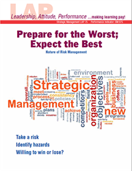 LAP-SM-075, Prepare for the Worst; Expect the Best (Nature of Risk Management) (Download) SM:075, LAP-FI-008